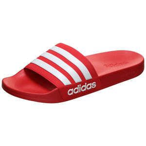 Adilette Shower Badesandale Herren, rot / weiß, zoom bei OUTFITTER Online