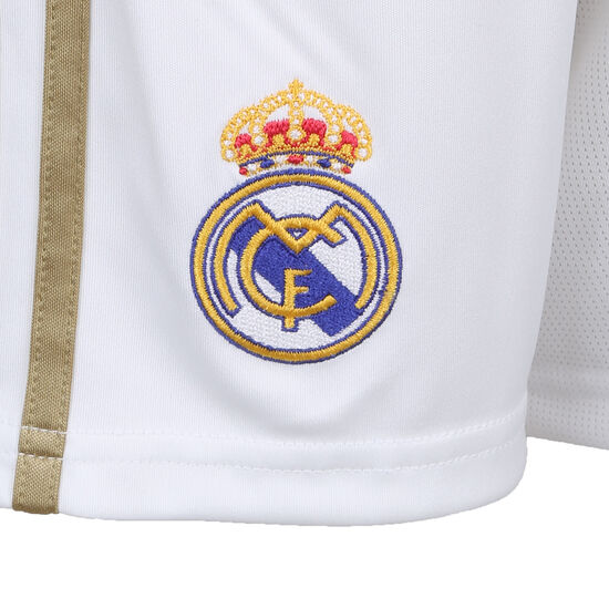 Real Madrid Short Home 2019/2020 Kinder, weiß / gold, zoom bei OUTFITTER Online