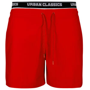 Two in One Swim Shorts Herren, rot / weiß, zoom bei OUTFITTER Online