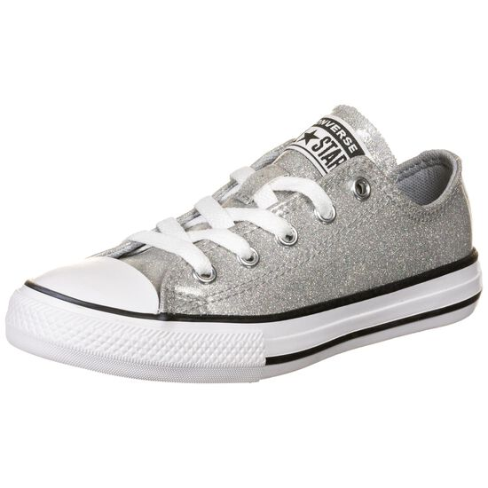 Chuck Taylor All Star Coated Glitter OX Sneaker Kinder, hellgrau, zoom bei OUTFITTER Online
