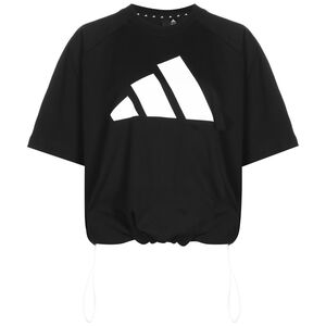 Loose Fit Logo Trainingsshirt Damen, schwarz / weiß, zoom bei OUTFITTER Online