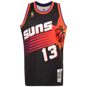 NBA Phoenix Suns 2.0 #Steve Nash Basketballtrikot Herren, schwarz / orange, zoom bei OUTFITTER Online