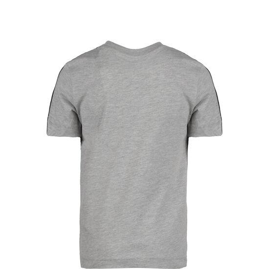 Essential 3 Stripes Trainingsshirt, grau / schwarz, zoom bei OUTFITTER Online