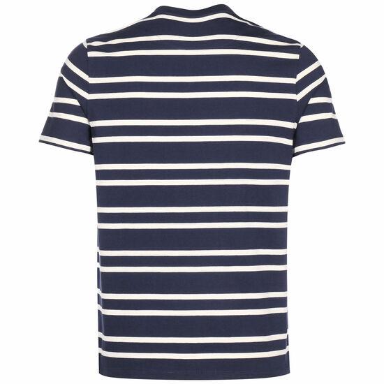 Double Stripe T-Shirt Herren, dunkelblau / beige, zoom bei OUTFITTER Online