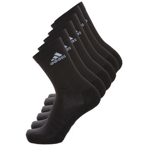 3 Stripes Performance Crew Socken 6er Pack, Schwarz, zoom bei OUTFITTER Online