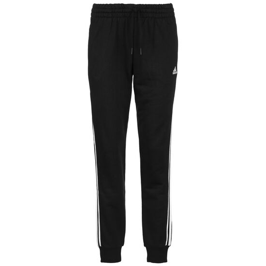 Essentials 3-Stripes Jogginghose Damen, schwarz / weiß, zoom bei OUTFITTER Online