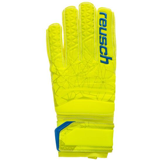 Fit Control SG Finger Support Torwarthandschuh, neongelb / blau, zoom bei OUTFITTER Online