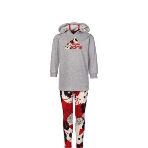 Hoodie-Set Sweatkleid Kinder, grau / rot, zoom bei OUTFITTER Online