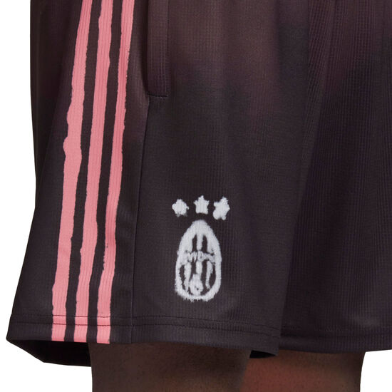Juventus Turin Human Race FC Shorts Herren, schwarz / rosa, zoom bei OUTFITTER Online