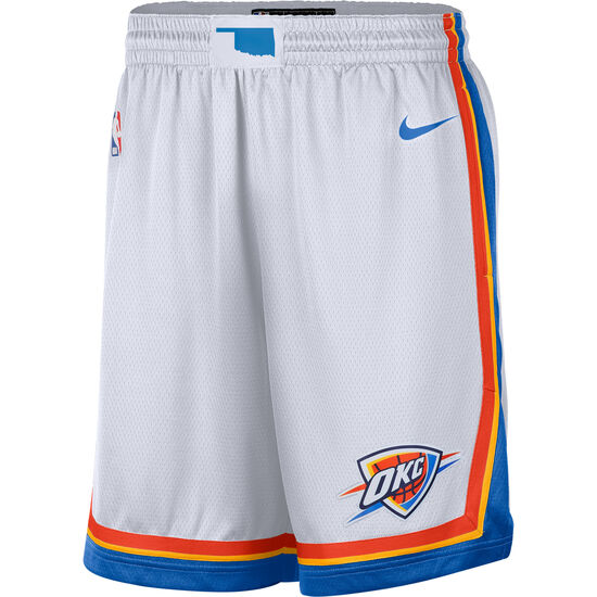 NBA Oklahoma City Thunder Icon Edition Swingman Short Herren, weiß / blau, zoom bei OUTFITTER Online