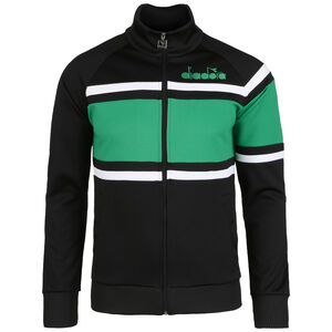 80S Track Jacke Herren, schwarz / grün, zoom bei OUTFITTER Online