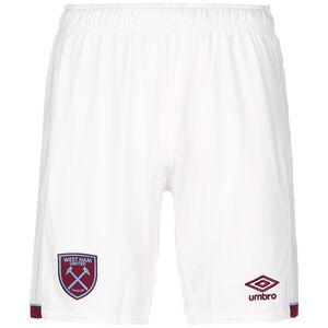 West Ham United Shorts Home 2020/2021 Herren, weiß / weinrot, zoom bei OUTFITTER Online