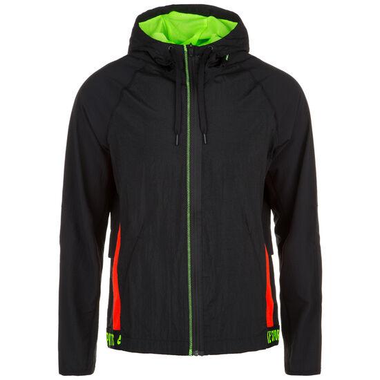 Flex Trainingsjacke Herren, schwarz / neongrün, zoom bei OUTFITTER Online