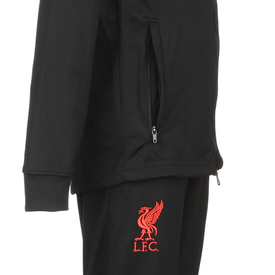 FC Liverpool Strike Trainingsanzug Kinder, schwarz / rot, zoom bei OUTFITTER Online