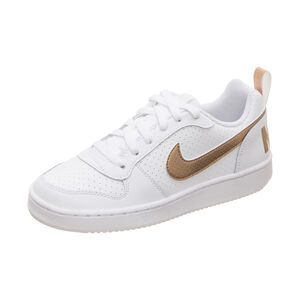 Court Borough Low Sneaker Kinder, weiß / gold, zoom bei OUTFITTER Online