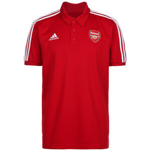 FC Arsenal 3-Streifen Poloshirt Herren, rot / weiß, zoom bei OUTFITTER Online