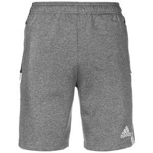 Tiro 21 Sweat Trainingsshorts Herren, grau / weiß, zoom bei OUTFITTER Online