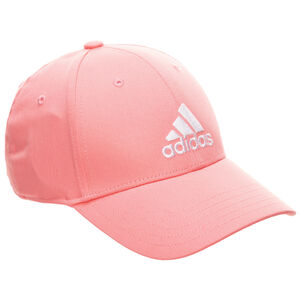 Baseball Strapback Cap, rosa / weiß, zoom bei OUTFITTER Online