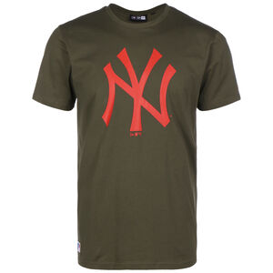 MLB New York Yankees Seasonal Team Logo T-Shirt Herren, oliv / rot, zoom bei OUTFITTER Online