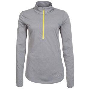 HeatGear Threadborne Streaker 1/2 Zip Laufshirt Damen, grau, zoom bei OUTFITTER Online