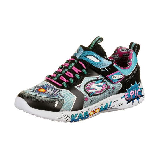 Dynamight Hero Status Sneaker Kinder, schwarz / hellblau, zoom bei OUTFITTER Online
