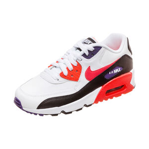 Air Max 90 Leather Sneaker Kinder, weiß / rot, zoom bei OUTFITTER Online