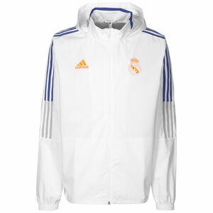 Real Madrid All Weather Jacke Herren, weiß / blau, zoom bei OUTFITTER Online