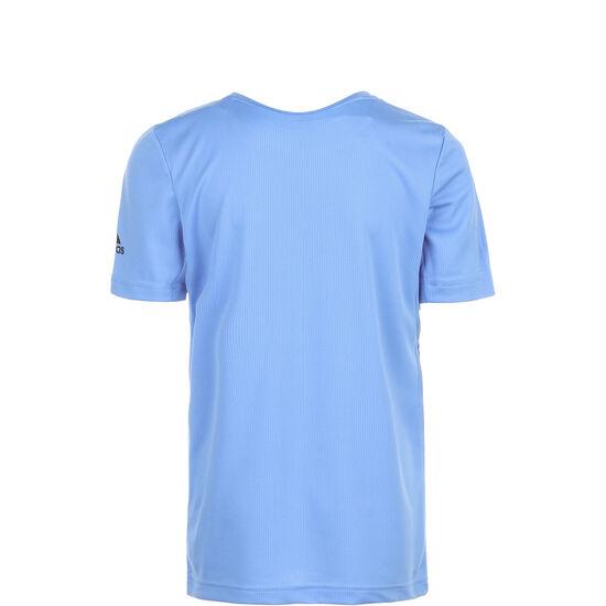 All Caps Trainingsshirt Kinder, hellblau / schwarz, zoom bei OUTFITTER Online