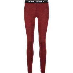 Active Melange Logo Leggings Damen, rot / schwarz, zoom bei OUTFITTER Online
