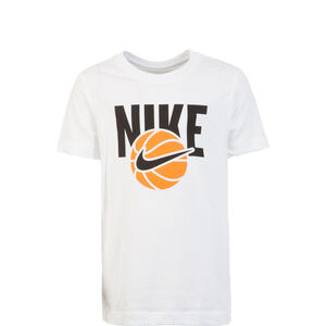 Basketball Ball T-Shirt Kinder, weiß / schwarz, zoom bei OUTFITTER Online