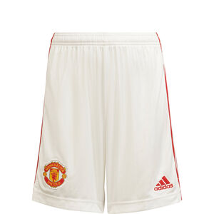 Manchester United Shorts Home 2021/2022 Kinder, weiß / rot, zoom bei OUTFITTER Online