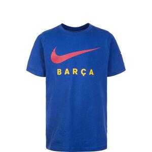 FC Barcelona Large Swoosh T-Shirt Kinder, blau, zoom bei OUTFITTER Online