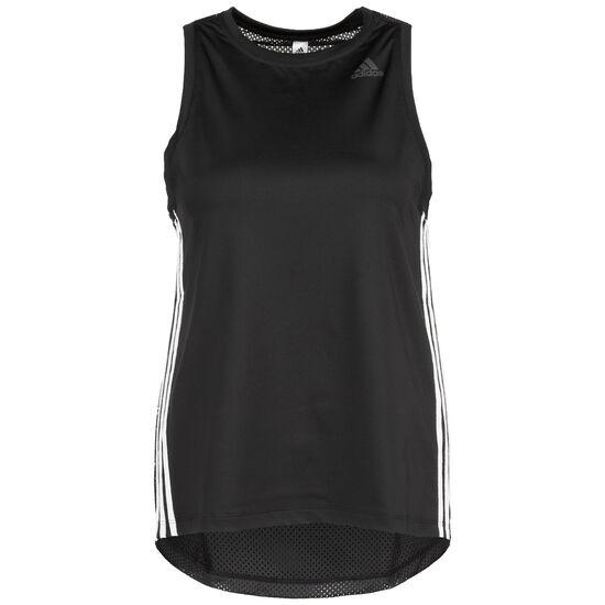 3 Stripes Loose Lauftank Damen, schwarz / weiß, zoom bei OUTFITTER Online