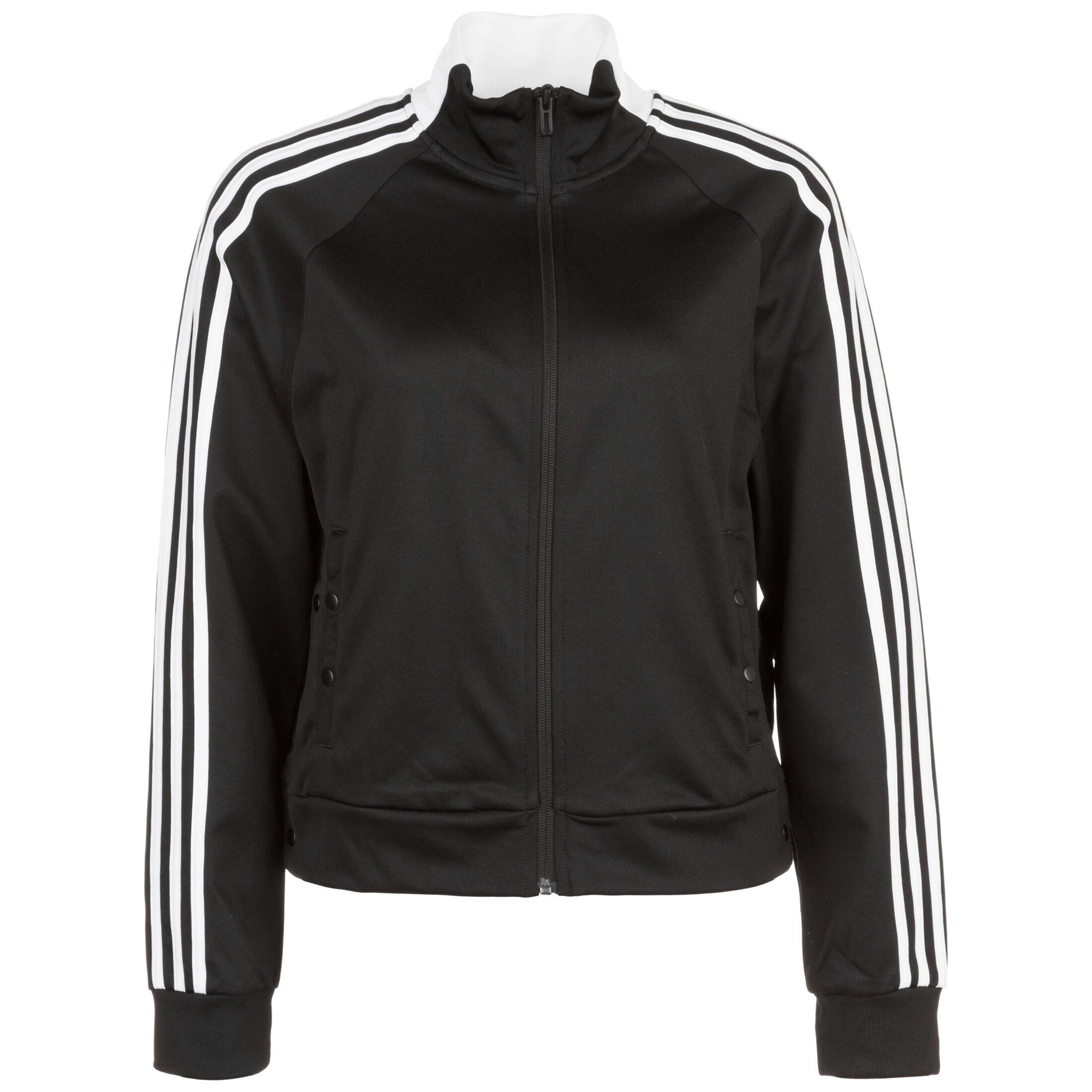 adidas Frauen ID 3 Streifen Snap Trainingsjacke black