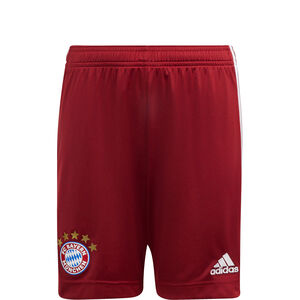 FC Bayern München Shorts Home 2021/2022 Kinder, rot, zoom bei OUTFITTER Online