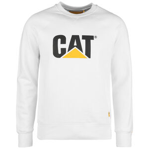 CAT Logo Roundneck Sweatshirt Herren, weiß, zoom bei OUTFITTER Online