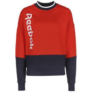 Essentials Logo Sweatshirt Damen, rot / schwarz, zoom bei OUTFITTER Online