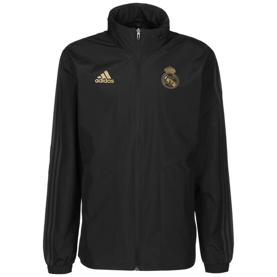 Real Madrid All-Weather Trainingsjacke Herren, schwarz / gold, zoom bei OUTFITTER Online