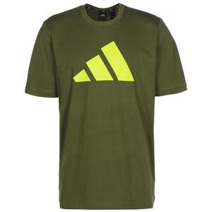 Logo T-Shirt Herren, oliv / gelb, zoom bei OUTFITTER Online