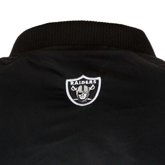 NFL Oakland Raiders Satin Varsity Jacke Herren, Schwarz, zoom bei OUTFITTER Online