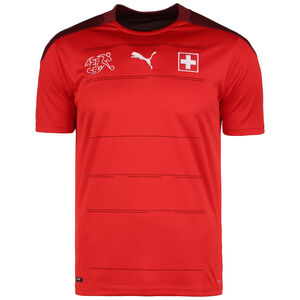 SFV Schweiz Trikot Home EM 2021 Herren, rot / bordeaux, zoom bei OUTFITTER Online