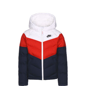 Synthetic Fill Winterjacke Kinder, weiß / rot, zoom bei OUTFITTER Online