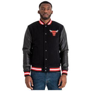 NBA Team Logo Varsity Chicago Bulls Bomberjacke Herren, schwarz / rot, zoom bei OUTFITTER Online