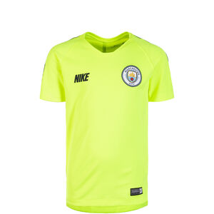 Manchester City Breathe Squad Trainingsshirt Kinder, neongelb / dunkelblau, zoom bei OUTFITTER Online