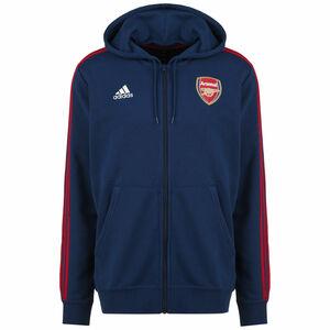 FC Arsenal 3-Streifen Kapuzenjacke Herren, blau, zoom bei OUTFITTER Online