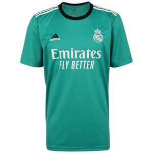 Real Madrid Trikot 3rd 2021/2022 Herren, türkis / weiß, zoom bei OUTFITTER Online