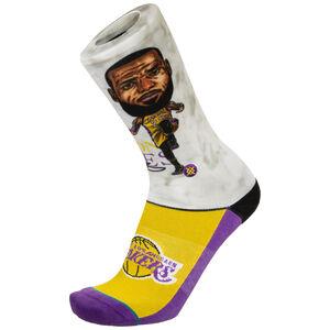LeBron James Big Head Socken Herren, lila / weiß, zoom bei OUTFITTER Online