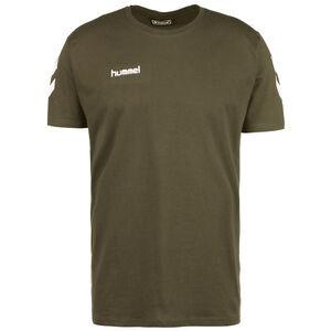 Logo Cotton T-Shirt Herren, oliv / weiß, zoom bei OUTFITTER Online