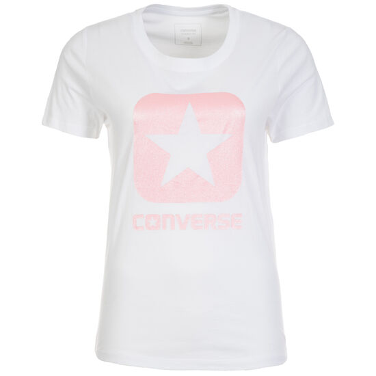 Metallic Box Star T-Shirt Damen, Weiß, zoom bei OUTFITTER Online