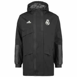 Real Madrid Travel Drill Jacke Herren, anthrazit / weiß, zoom bei OUTFITTER Online